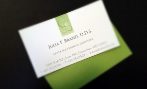 business card deisgn for Julia Brand, DDS