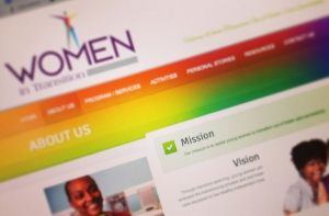 Women in Transition web design